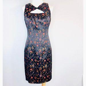 David Meister Chinese Mandarin Collar Dress Sz 2